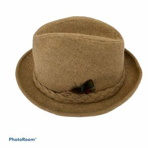 Stetson Sovereign Vintage Tan Fedora Hat 7 1/8 Men